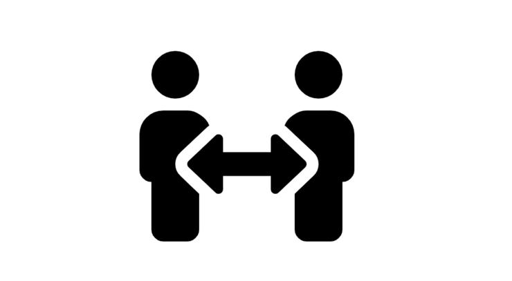 logo om at holde afstand