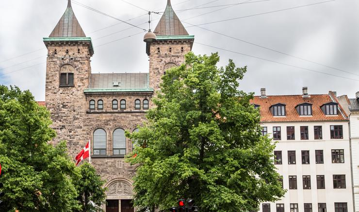 The facade of the Eliaskirken church on Vesterbro