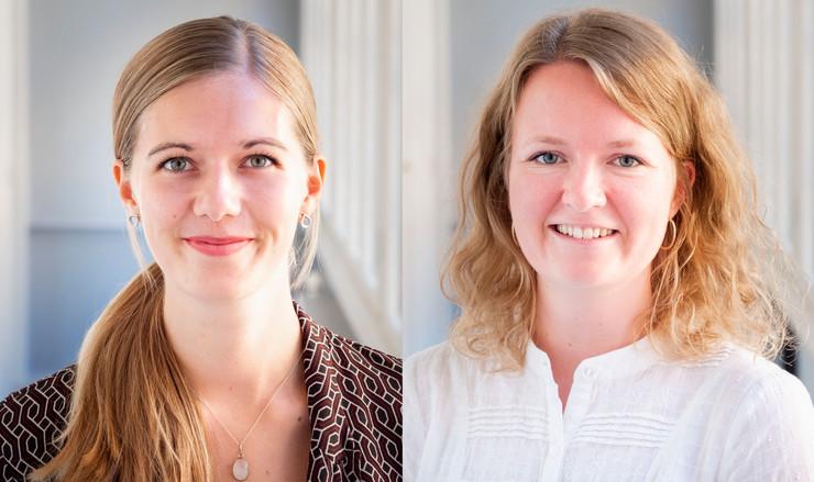Julie Weile Larsen og Simone Nørskov Østerby synes at folkekirken er en behagelig arbejdsplads som jurist, da der er fokus på et vejlede og hjælpe frem for profit.