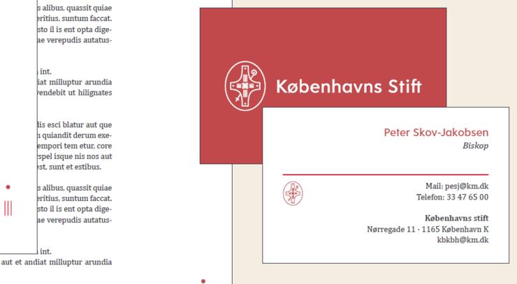 Københavns Stifts logo i brug