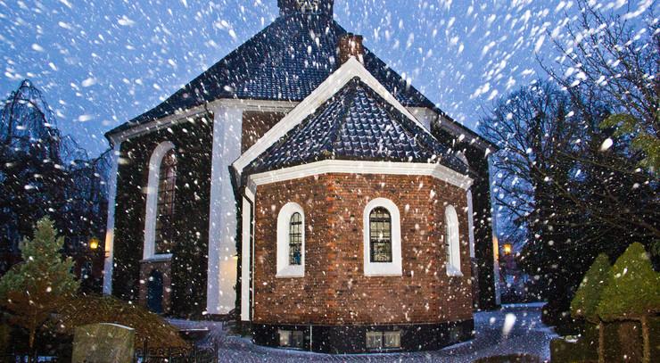 Frederiksberg kirke i snevejr